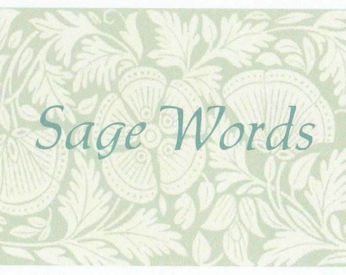 Sage Words Affirmation cards