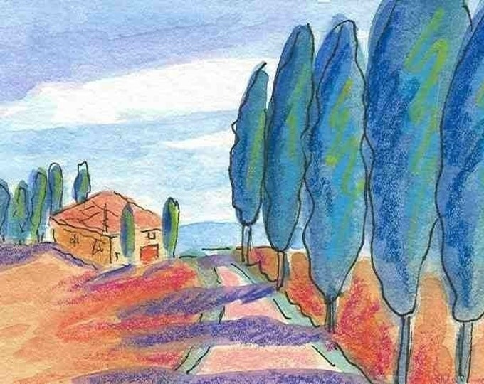 Tuscan Road notecard