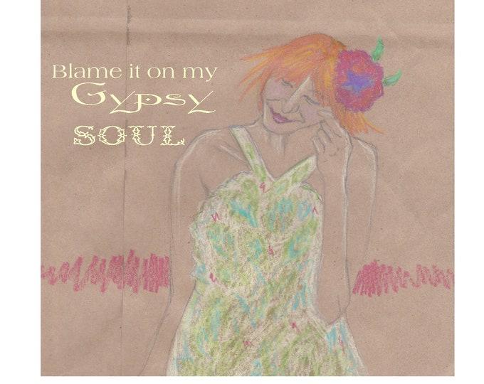 Gypsy Soul blank notecard