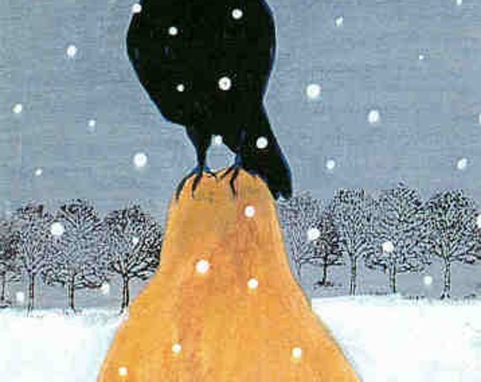 Raven's Gift christmas card winter holiday card