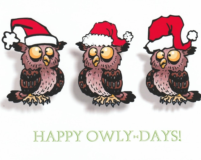 Happy Owly-Days Christmas card