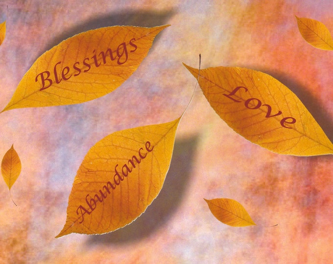 Thanksgiving card blessings love abundance