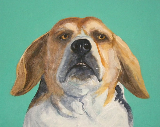 Beagle blank greeting card