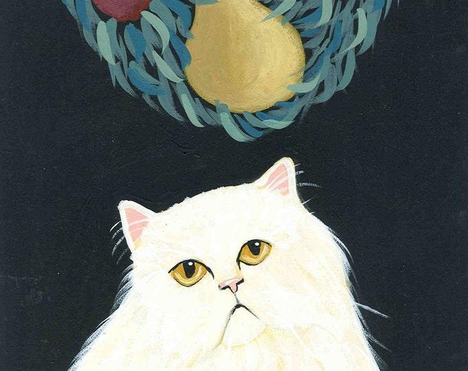 Garland Cat holiday notecard