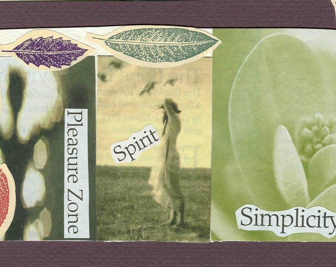 Simplicity collage greeting card