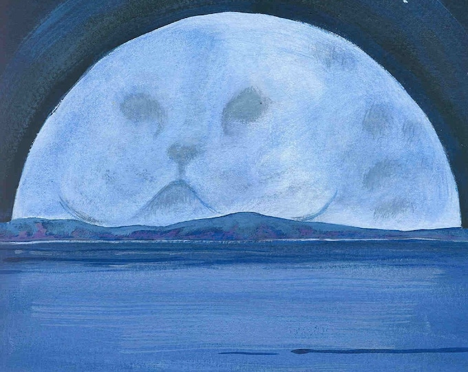Moon Mother blank greeting card