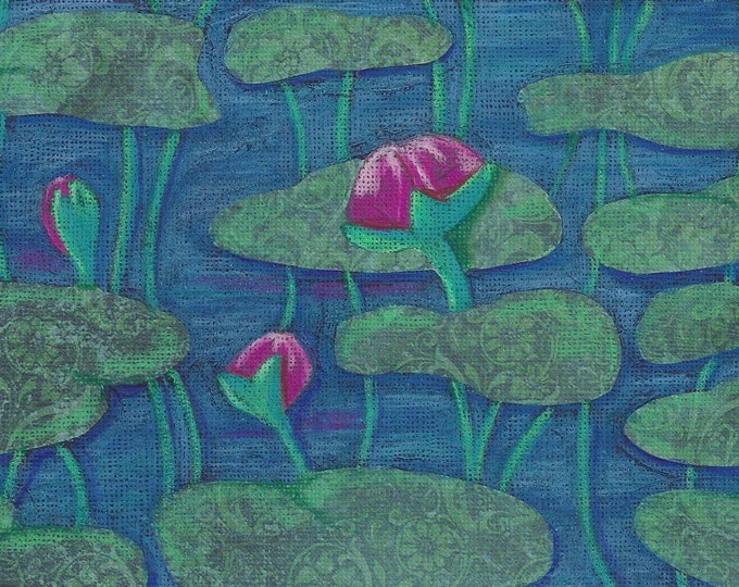 Lotus Buds notecard