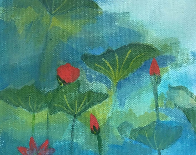 Lotus In The Mist original art print