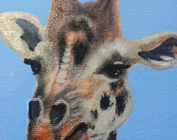 Louise the Giraffe blank greeting card