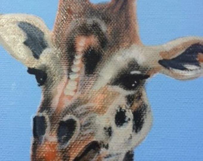 Louise the Giraffe blank greeting card