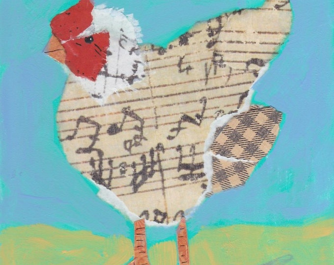 Singing Chicken notecard