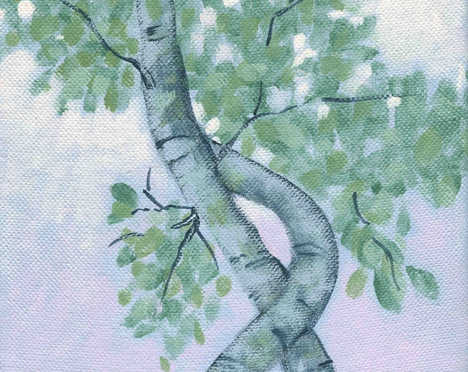 Twilight Tree Study blank greeting card
