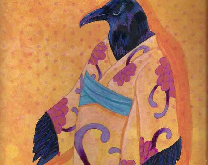 Raven Elder in Kimono notecard