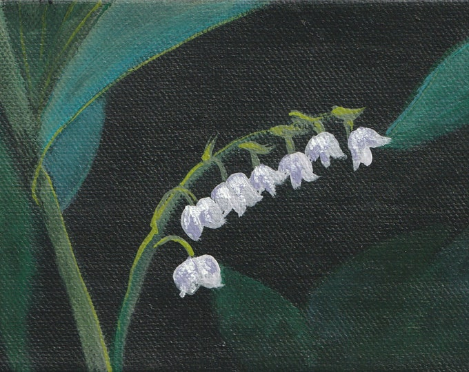 Elegant Lily of the valley notecard