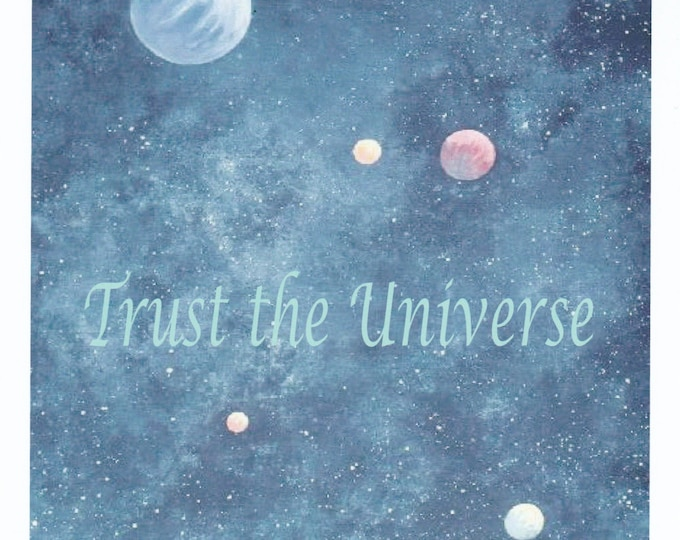 Trust the Universe blank card