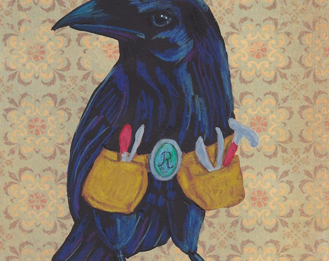Smart Raven greeting card