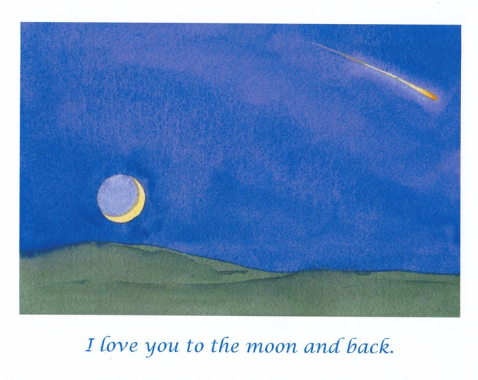 I Love You To The Moon and back Valentine card