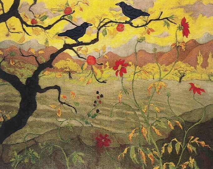 Vineyard Ravens greeting card