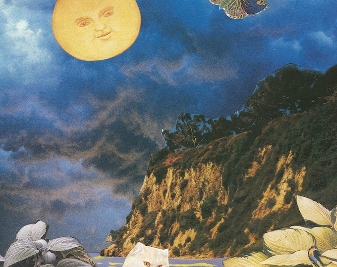 Bella Luna collage greeting card