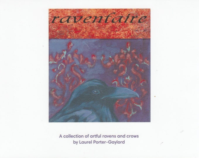 Ravens Crows beautiful glossy art booklet WITH titles