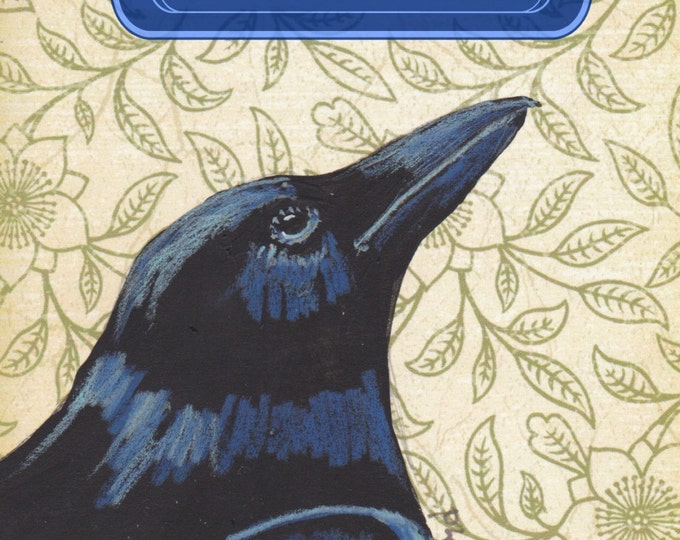 Dream Big raven crow greeting card