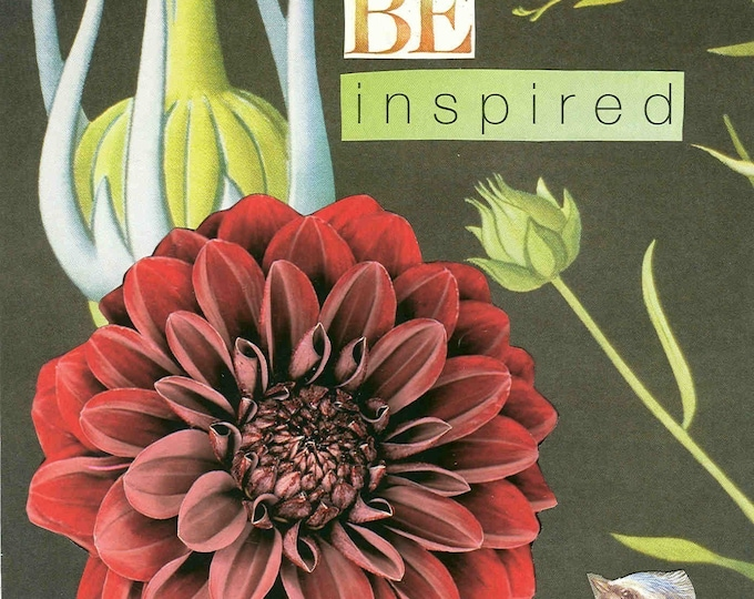 Be Inspired blank greeting card