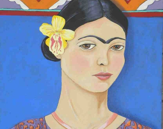 Young Frida Kahlo greeting card