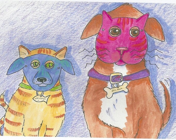 Buster and Penelope greeting card