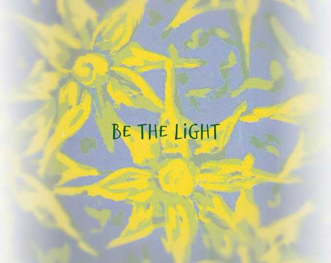 Lolo Love be the light blank notecard