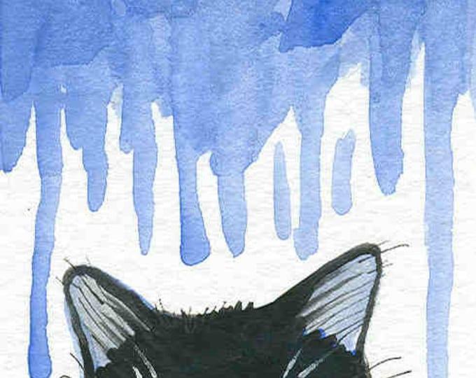 Rainy Day Cat notecard