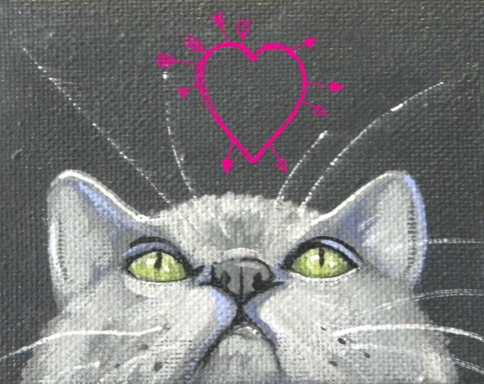 Love On My Mind kitty valentine love card