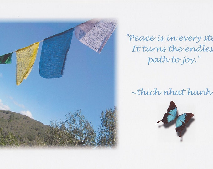 Peace Flags quote large card