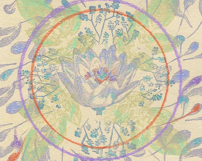 Lotus Mandala Oversized Greeting card