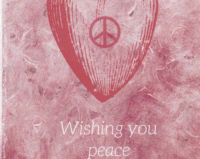 Lolo Love Peace in your heart blank card