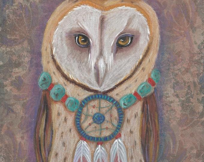 The Dream keeper owl totem blank card