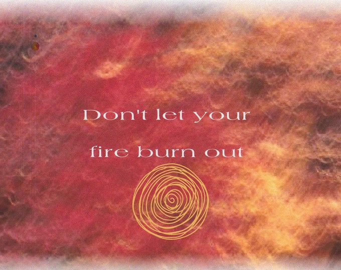 Lolo Love card line Don't let your fire burn out