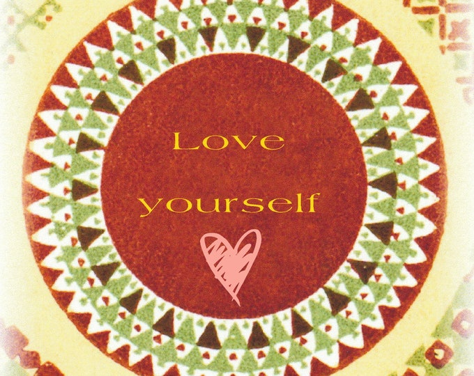 Lolo Love card line Love Yourself blank card
