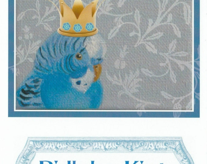 Birthday card for men crowned bird