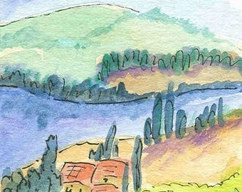 Italian Countryside greeting card