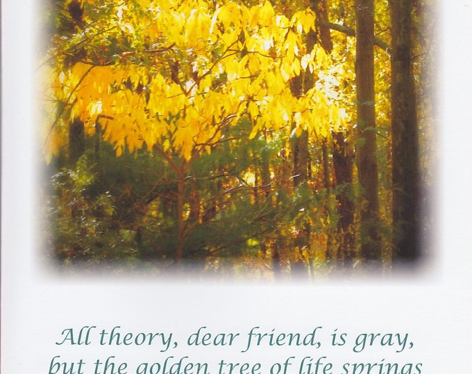 Golden Tree frameable quote card
