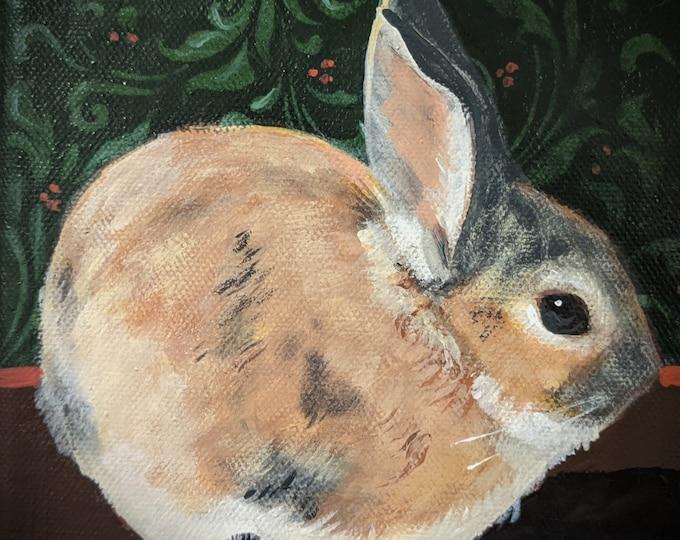 Little Bunny Ball blank greeting card