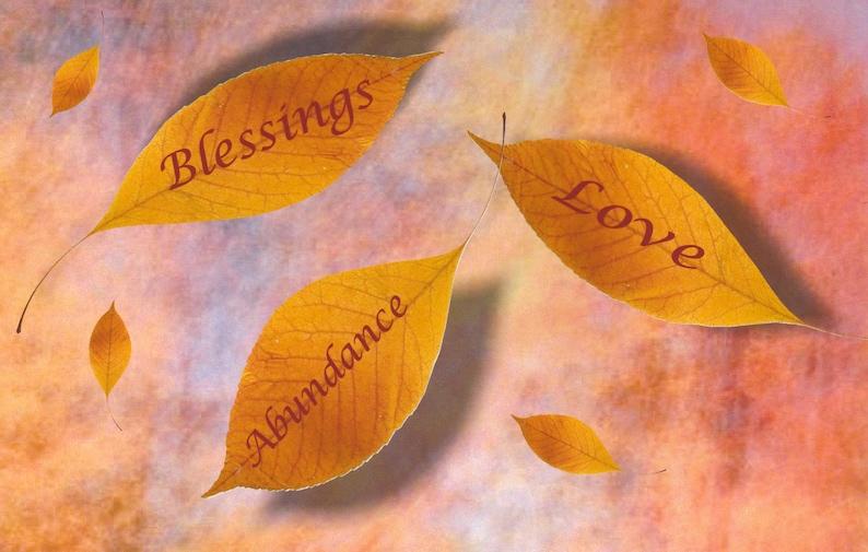 Thanksgiving card blessings love abundance