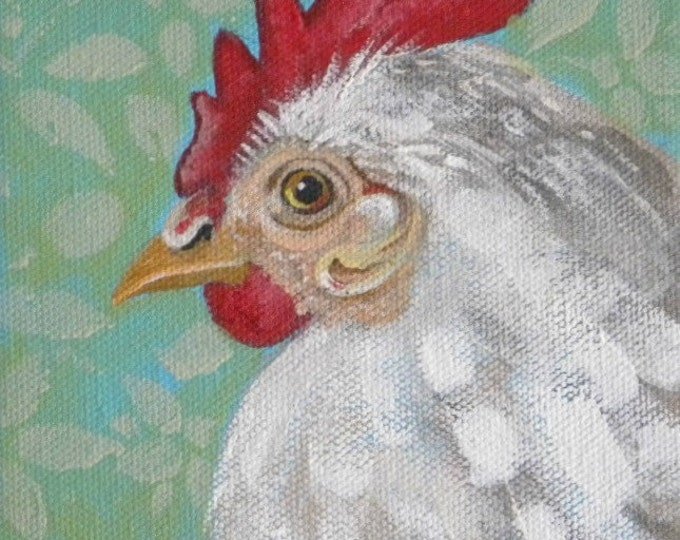 Henrietta chicken blank greeting card