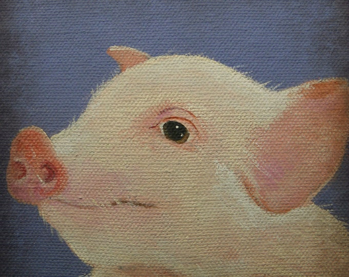 This Little Piggy blank greeting card