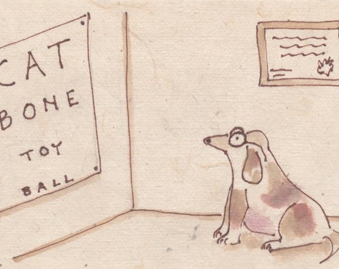 Seeing Eye Dog Test blank greeting card