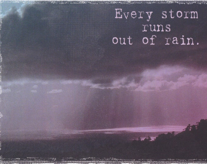 Lolo Love Every storm runs out of rain blank card