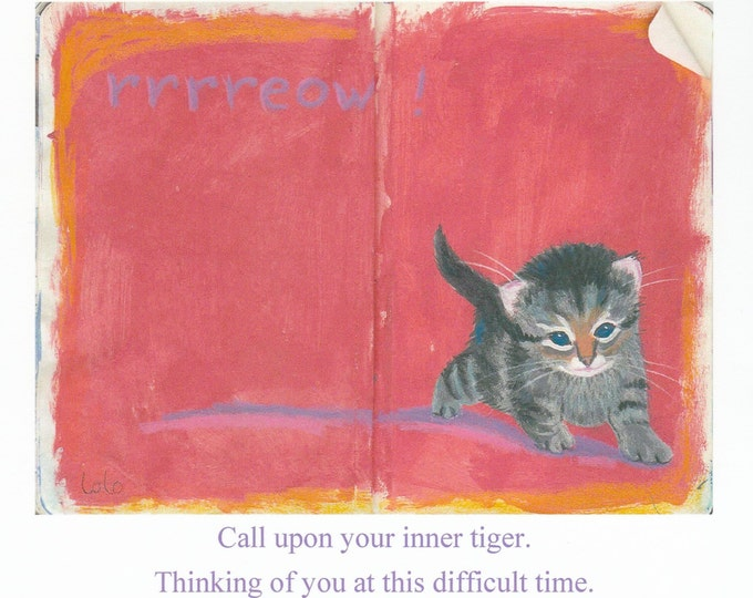 Inner Tiger encouragement support card