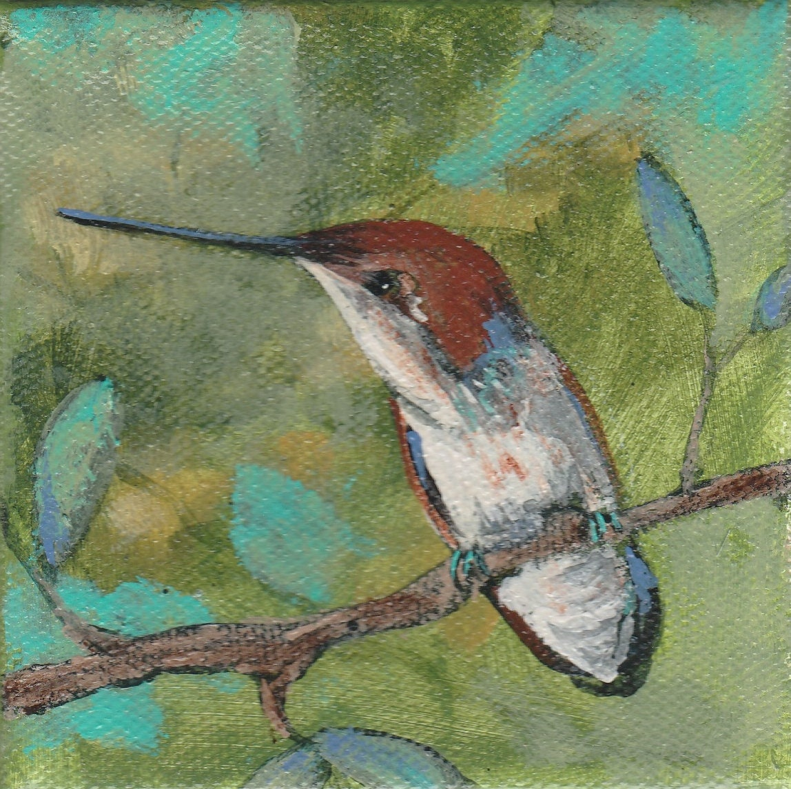 Sweet hummingbird blank greeting card m4hsunfo
