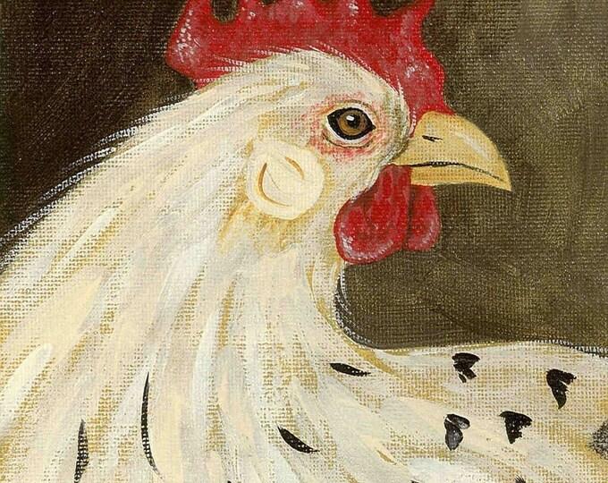 Pretty Spring Chicken blank greeting card