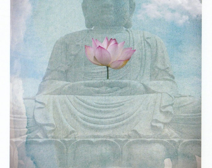 Buddha Love is the way to peace large blank card